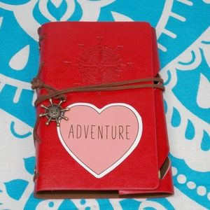 Travel Journal NWT Red Hikers Notebook Adventure